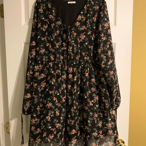 Cute black floral dress